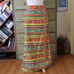 Stunning vintage psychedelic maxi skirt GB1
